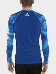 UV Rash Guard Shirt | Men's Blue Camo