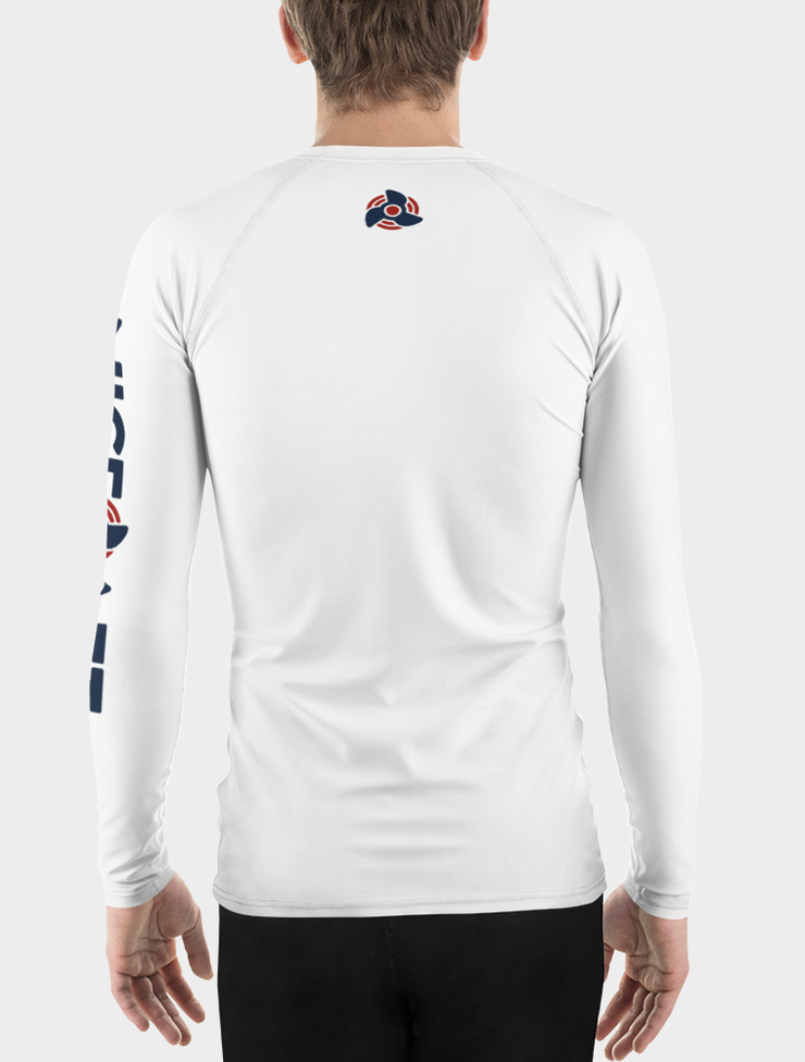 UV Rash Guard Shirt | Men's White