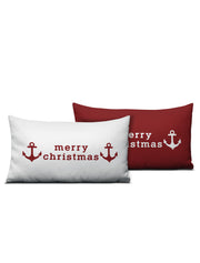 Merry Christmas Anchor Pillow