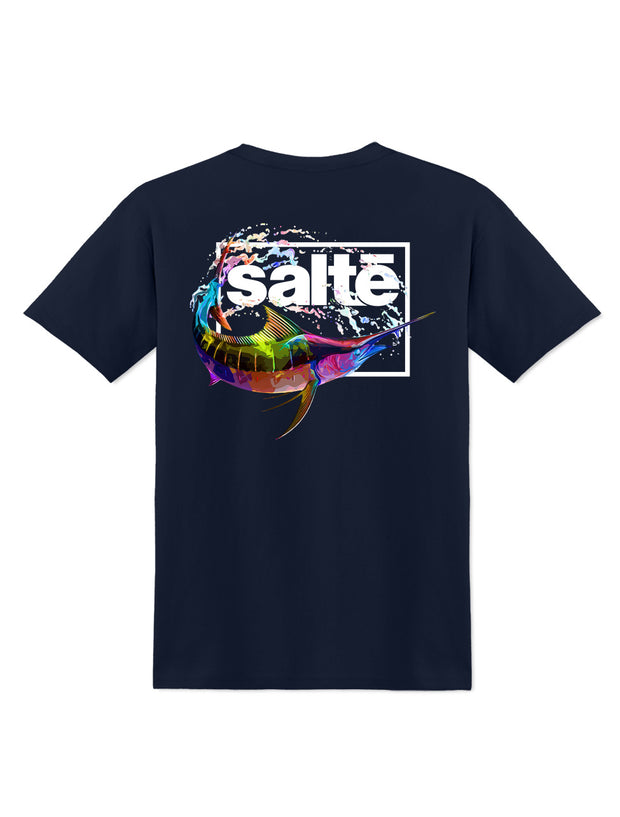 Saltē Marlin Color Splash Crew Tee - Nice Aft