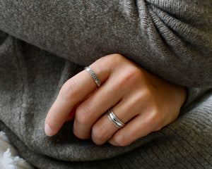 BHUMI, bague argent sterling.