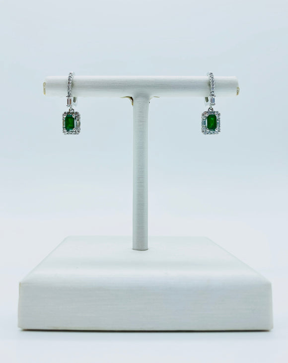 ASHI Emerald & Diamonds Earrings