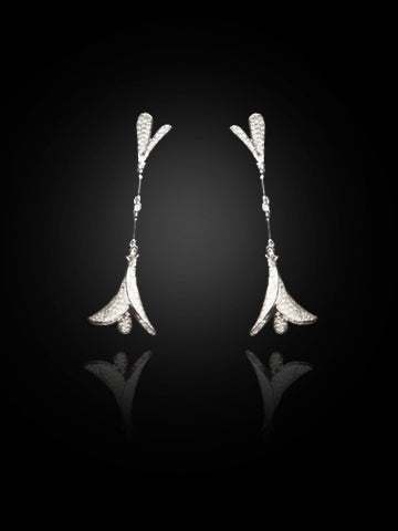 Scavia Earrings ( Diamond )