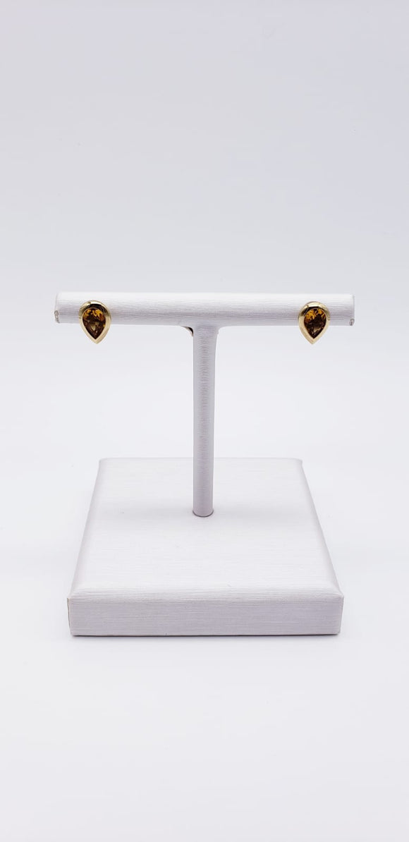 Breuning Earrings (Citrine Leveled & 18k)