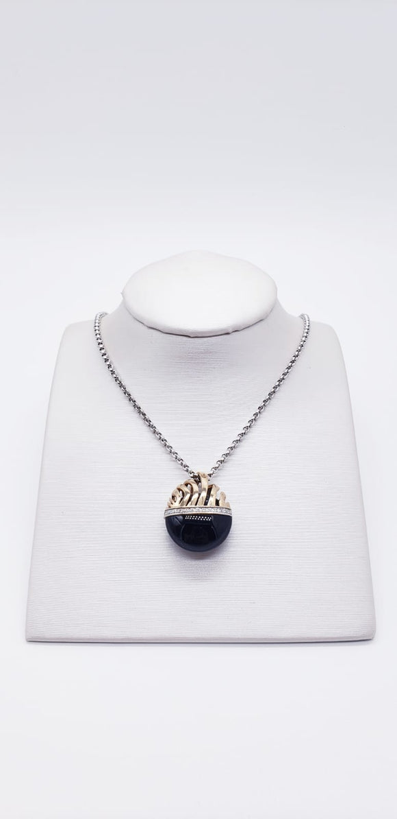 Breuning Necklace ( Onyx ) + chain
