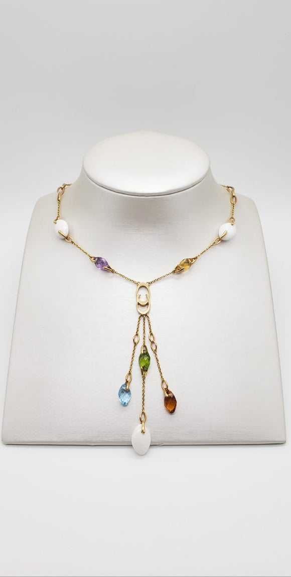 Chimento Necklace + Colored Stones