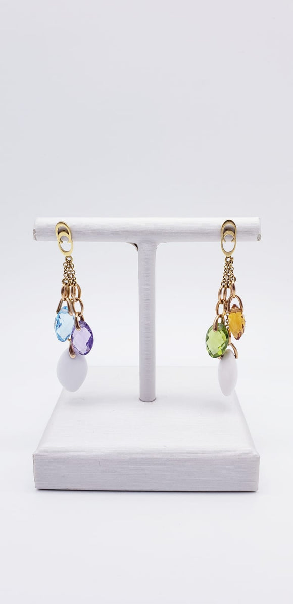Chimento Earrings with Colored Stones