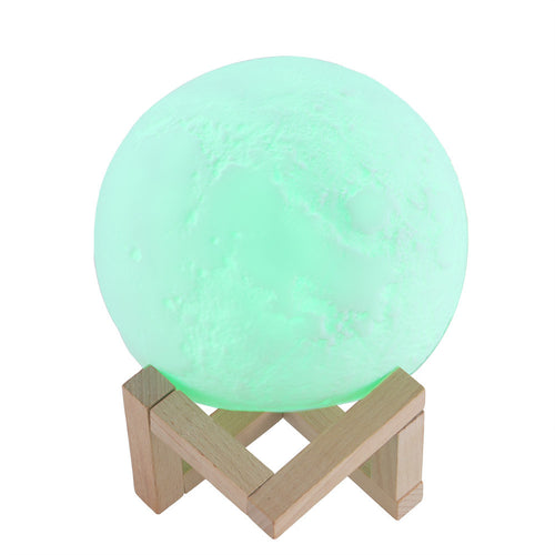 Rechargeable Magic 3D Printing LED Moon Lamp 16 RGB Color Changing Remote Touch Control Night Light