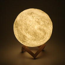 Konesky Micromake 3D Print Moon Lamp with Touch-Sensing Switch USB LED Night Light Moonlight Valentines Gift