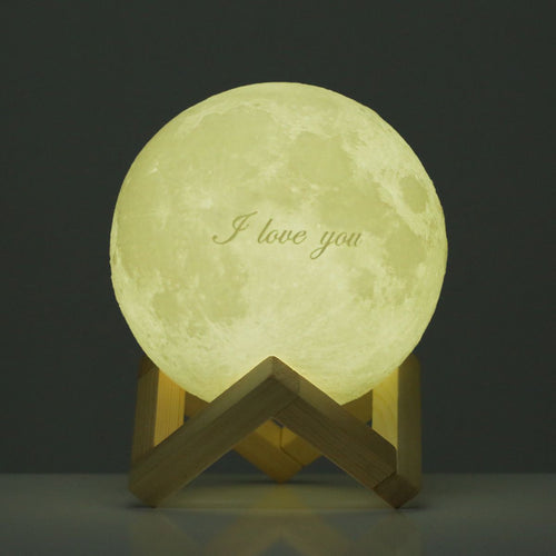 Tooarts Moon Lamp ❤ Valentine's Day Gift I LOVE YOU ❤ 3D Printed LED Light Modern Art Home Decor Moon In My Room EU Plug 100-240V 50/60Hz