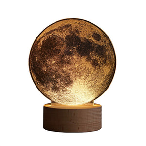 3D Printed  LED Moon Lamp LED Night Light USB Charging Desk Top Lamp for Bedroom and Living Room