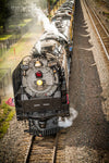 """The Living Legend 844 Steam Train Coming into Town, Laramie, Wyoming"" Fine Art Photography Print - Seneca Creek Studios"