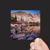 """Pre-Dawn Light on the Snowy Range Mountains reflected into Lake Marie, Wyoming"" Mini Metal Print - Seneca Creek Studios"