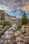 """Lake Marie Falls Sunset, Wyoming"" Fine Art Photographic Nature and Landscape Prints by Allison Pluda 