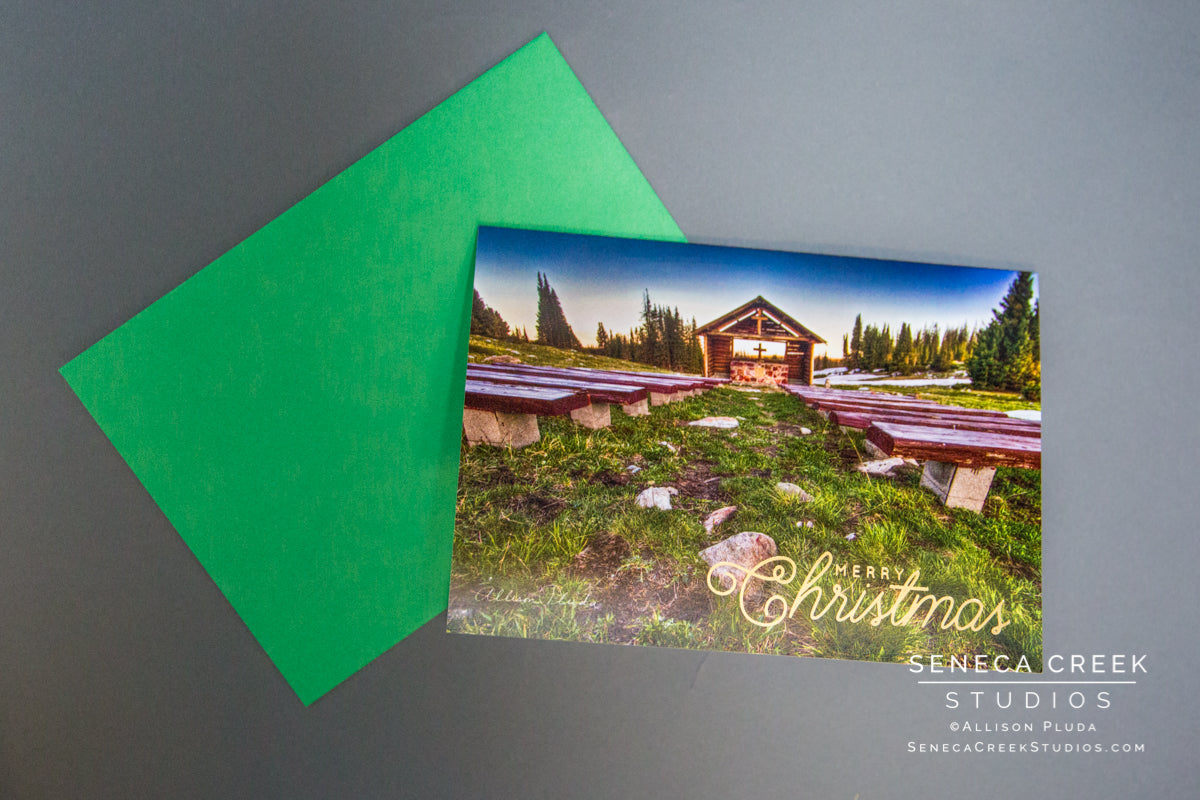 Wyoming mountain chapel merry christmas card seneca creek studios wyoming mountain chapel merry christmas card senecacreekstudios by allison pluda kristyandbryce Images