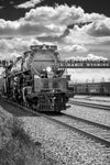 Union Pacific Steam Locomotive Train Big Boy No. 4014 Leaving Laramie, Wyoming Black and White - Seneca Creek Studios