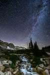 """Milky Way Waterfall, Snowy Range, Wyoming"" Fine Art Photography Print - Seneca Creek Studios"