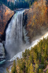 """Lower Falls in November, Yellowstone National Park, Wyoming"" Fine Art Photographic Nature and Landscape Prints by Allison Pluda 