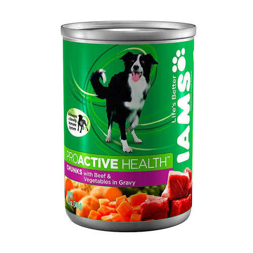 Iams ProActive Chunk Dog Food (12 Cans)