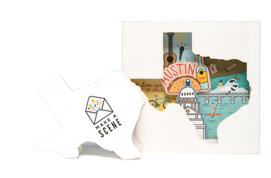 Austin, Texas 3D Pop Up Greeting Card