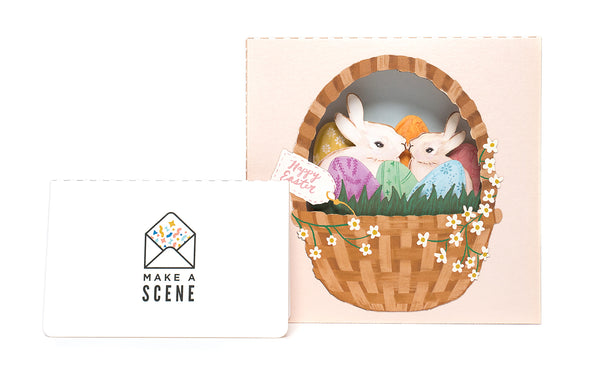 Easter Basket 3D Pop Up Greeting Card