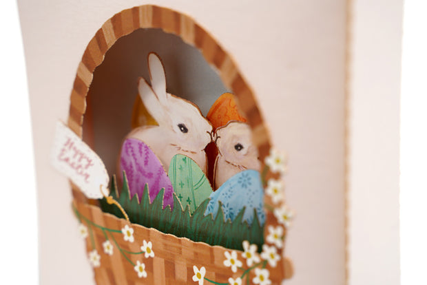 Easter Basket Pop Up Card 1