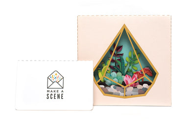 Terrarium 3D Pop Up Greeting Card