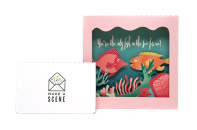 Under the Sea Sweetheart 3D Pop Up Greeting Card