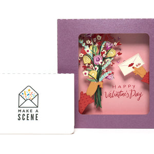 Valentine's Bouquet Pop Up Card