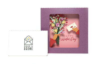 Valentine's Flower Bouquet 3D Pop Up Greeting Card