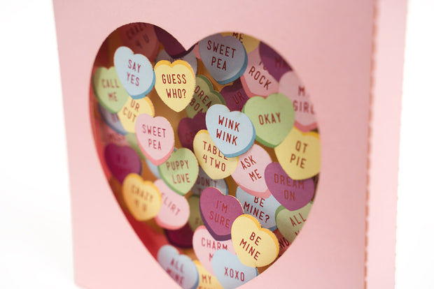 Valentine's Candy Hearts Pop Up Card 1