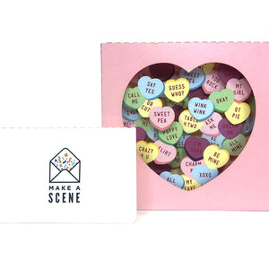 Valentine's Candy Hearts Pop Up Card