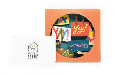 Yay! 3D Pop Up Greeting Card