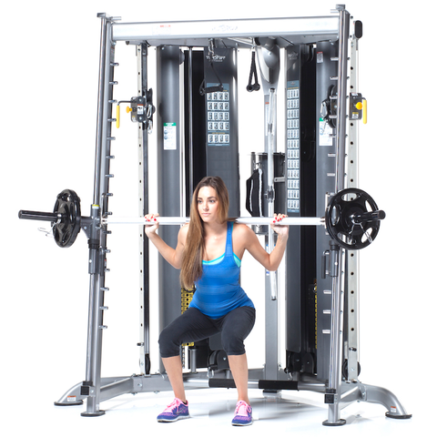 TUFFSTUFF CXT-200 MULTI FUNCTIONAL TRAINER  + CXT 225 SMITH PRESS