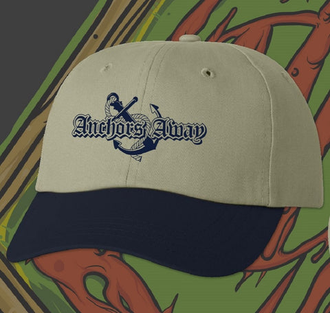 Khaki & Navy Anchors Away Hat
