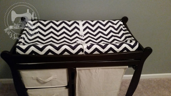 Blue Chevron Changing Cover for Changing Station!