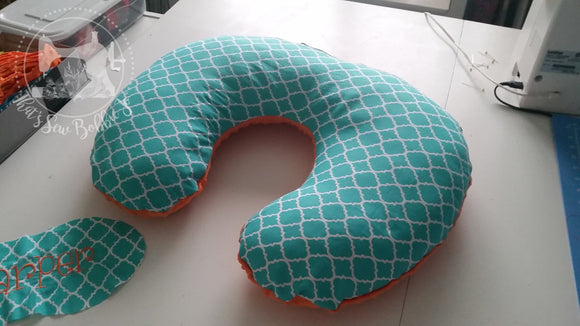 Orange and Turquoise Boppy cover
