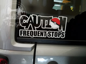 Caution Frequent Stops Decal Pokemon pokemom