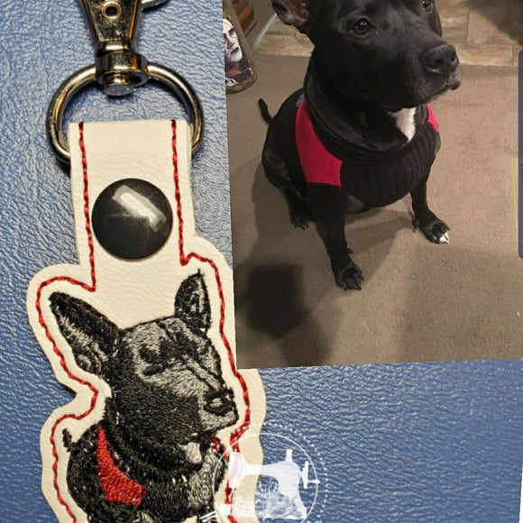 back puppy keychain