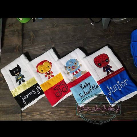 Kawaii Heros Burp Cloth Set