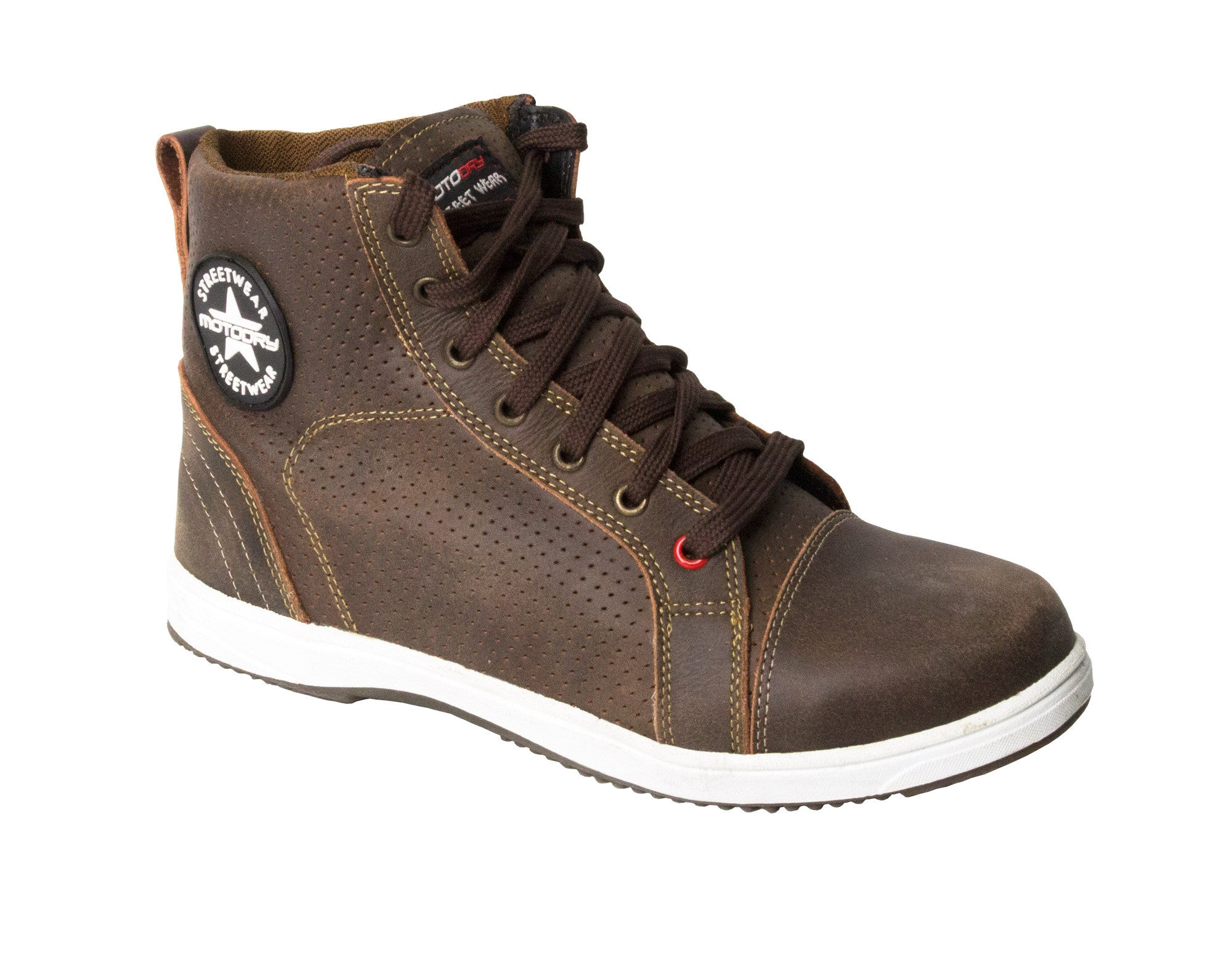 MOTODRY BOOTS LADY URBAN LEATHER BROWN SPORTS/TOURING/CASUAL BOOTS