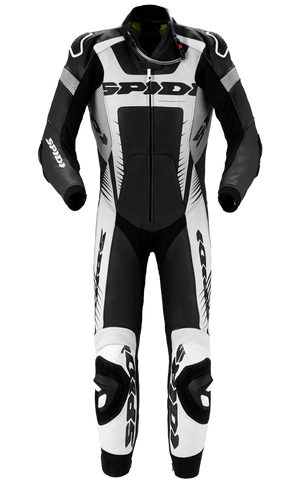 SPIDI WARRIOR WIND PRO LEATHER SUITS BLACK/WHITE/SILVER