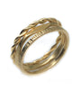 Set of 3 Customizable Gold Vermeil Stacking Rings