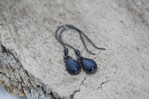 Kyanite Teardrop Dangle Earrings