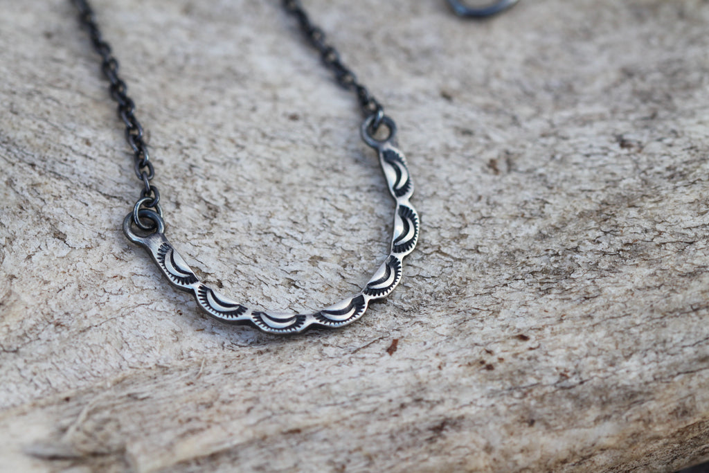 Scalloped Horseshoe Necklace