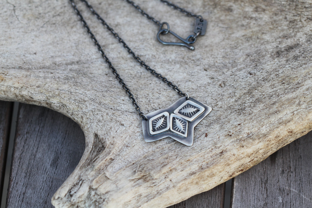 Chevron Triptych Necklace