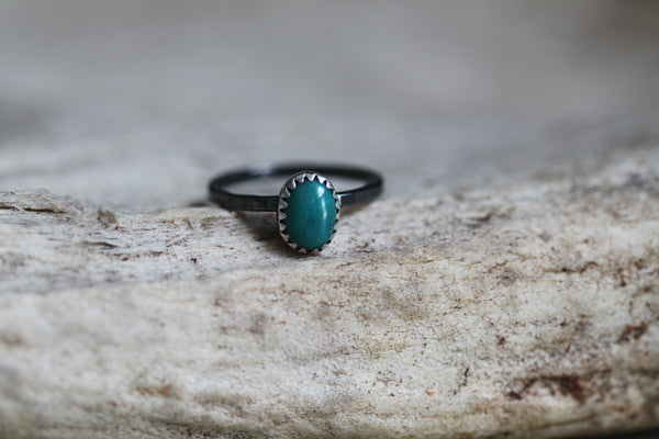 Chinese Turquoise Stacking Ring - Size 7