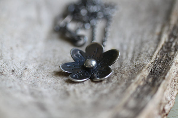 Dogwood Flower Pendant Necklace