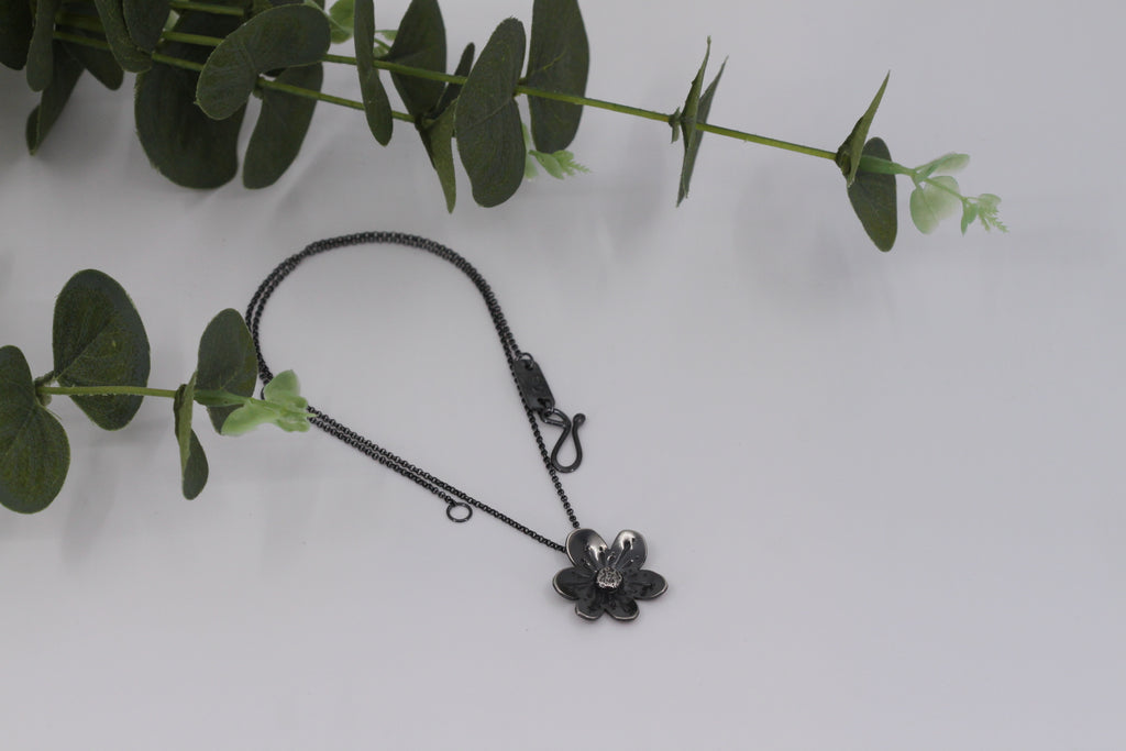 Dogwood Flower Pendant Necklace - Small