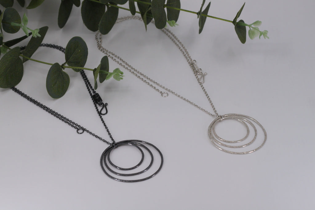 Smashed Hoop Necklace